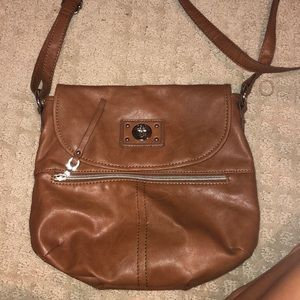 Brown leather Relic bag